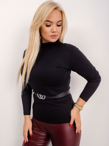 RUE PARIS Czarna bluzka plus size Brooke