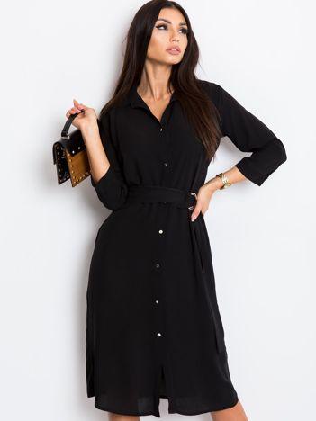 RUE PARIS Czarna sukienka Amber