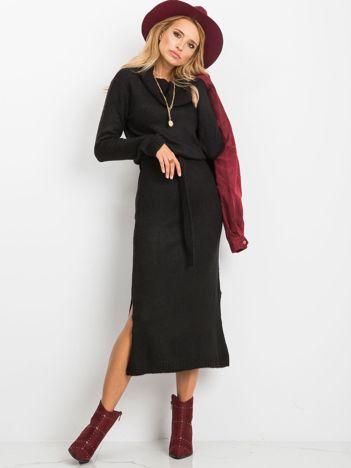 RUE PARIS Czarna sukienka Peace