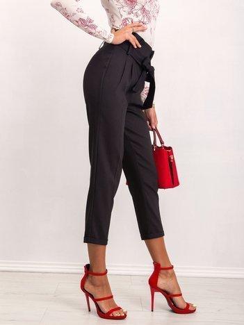 RUE PARIS Czarne spodnie Leena