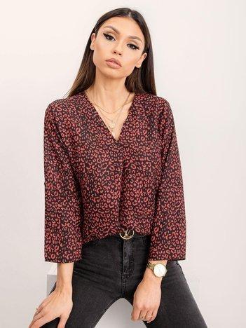 RUE PARIS Czarno-czerwona bluzka Meryl