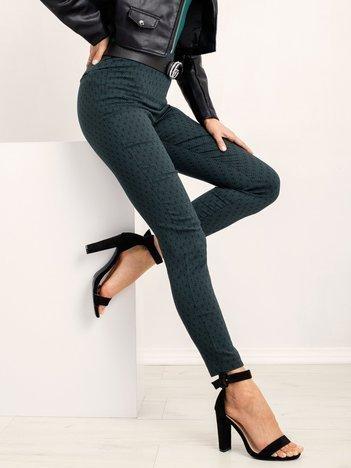 RUE PARIS Czarno-zielone spodnie Sauve