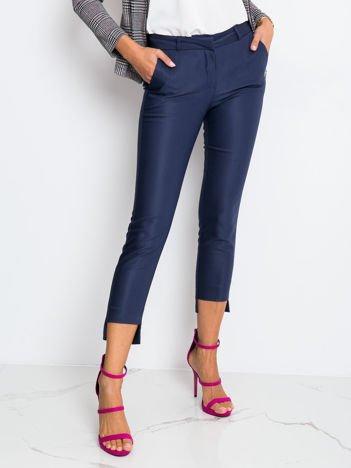 RUE PARIS Granatowe spodnie Blessed