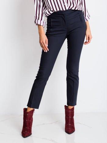 RUE PARIS Granatowe spodnie Wishful