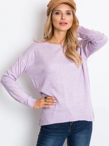RUE PARIS Jasnofioletowy sweter Omega