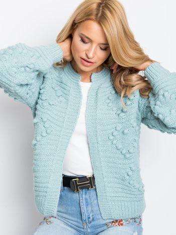 RUE PARIS Jasnomiętowy sweter Rita