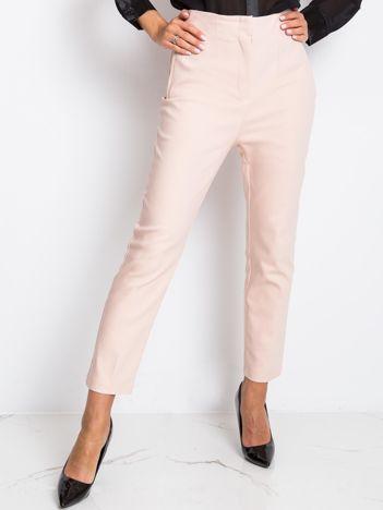 RUE PARIS Jasnoróżowe spodnie Hyper