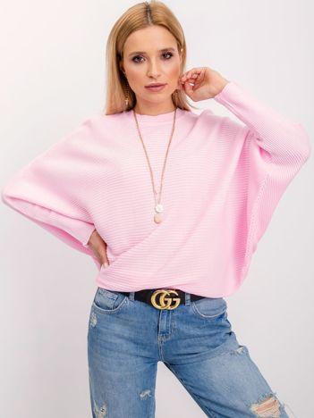 RUE PARIS Jasnoróżowy sweter Pose