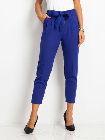 RUE PARIS Kobaltowe spodnie Devon