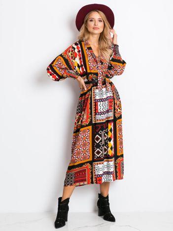 RUE PARIS Kolorowa sukienka Kassidy
