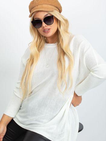 RUE PARIS Kremowy sweter plus size Ester