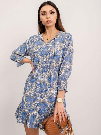 RUE PARIS Niebieska sukienka Hessy