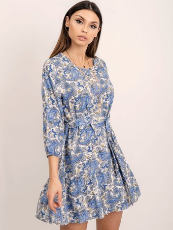 RUE PARIS Niebieska sukienka Vanessa