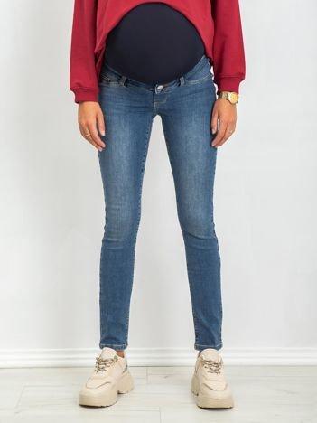 RUE PARIS Niebieskie jeansy Sheer