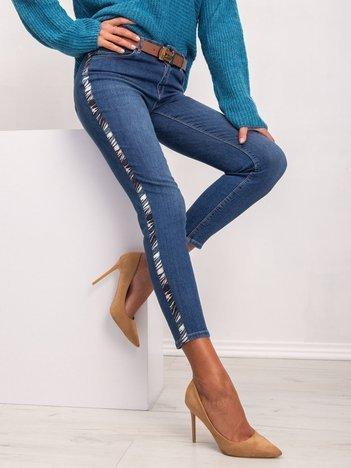 RUE PARIS Niebieskie jeansy Swan