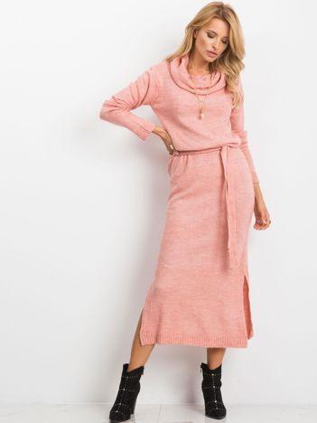 RUE PARIS Różowa sukienka Peace