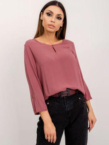 RUE PARIS Różowo-brązowa bluzka Gina