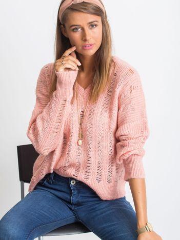 RUE PARIS Różowy sweter Aston