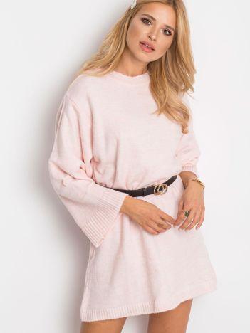 RUE PARIS Różowy sweter Perfect