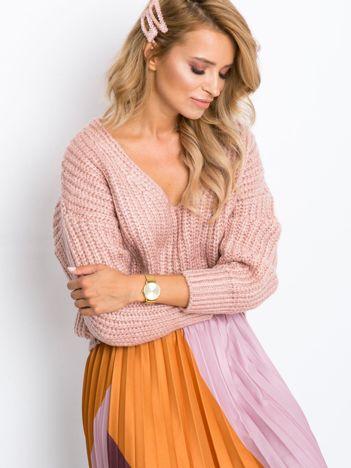 RUE PARIS Różowy sweter Perrie