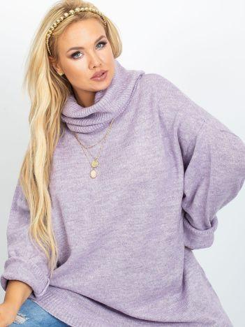 RUE PARIS Wrzosowy sweter plus size Poline