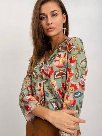 RUE PARIS Zielona bluzka Famme
