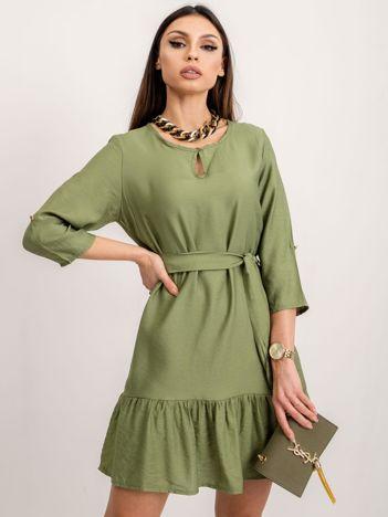 RUE PARIS Zielona sukienka Ellaine