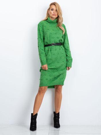 RUE PARIS Zielona sukienka Silky