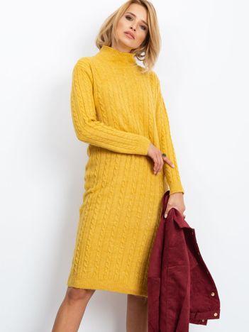 RUE PARIS Żółta sukienka Evermore