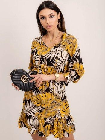 RUE PARIS Żółta sukienka Ferrara