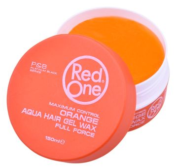 RedOne AQUA HAIR GEL WAX FULL FORCE ORANGE Wodny żelowy wosk do włosów ZAPACH MELONA 150 ML
