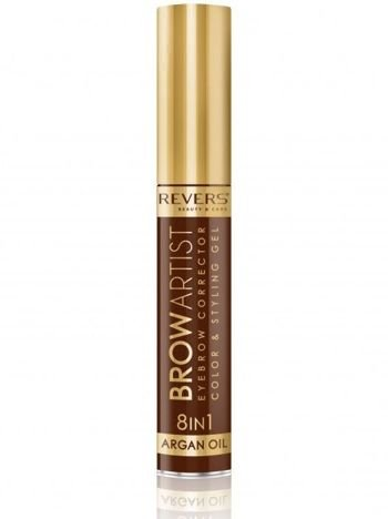 Revers Korektor do brwi BROW ARTIST 8w1 argan oil - Dark Brown 10 ml