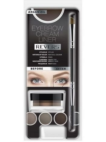 Revers Kremowy Liner do brwi EYEBROW CREAM LINER Graphite 8 ml