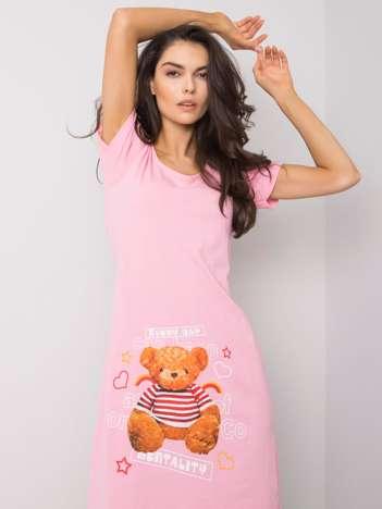 Różowa bawełniana koszula nocna