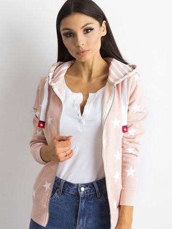 Różowa bluza w gwiazdki