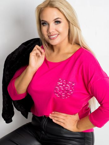 Różowa bluzka plus size Touchy