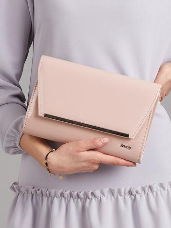 Różowa damska kopertówka z ekoskóry
