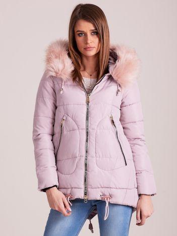 Różowa damska kurtka na zimę