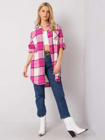 Różowa długa koszula Ileana