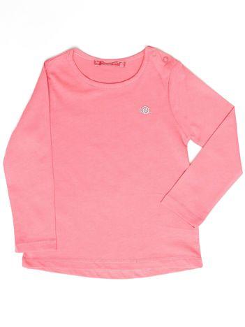Różowa gładka bluzka dziewczęca