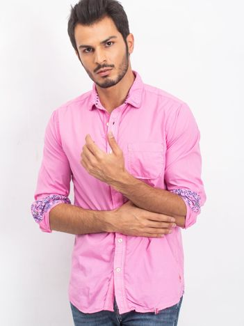 Różowa koszula męska Unusual
