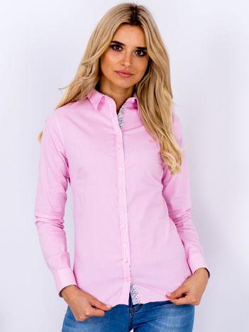 Różowa koszula w drobne paski