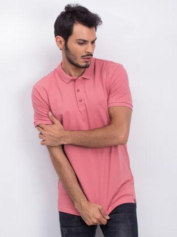 Różowa koszulka polo Coastal