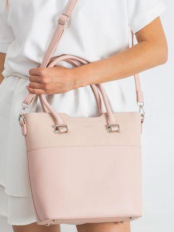 Różowa miejska torba z odpinanym paskiem