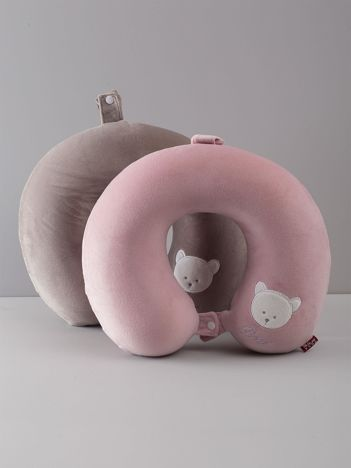 Różowa podróżna poduszka