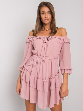 Różowa sukienka hiszpanka Nathalie OCH BELLA
