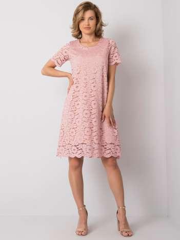 Różowa sukienka koronkowa Lulu