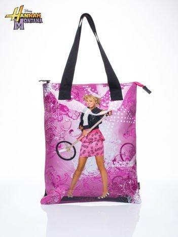 Różowa torba shopper bag dla dziewczynki DISNEY Hannah Montana
