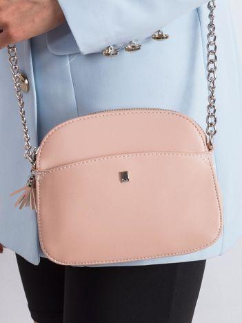 Rożowa torebka damska z ekoskóry