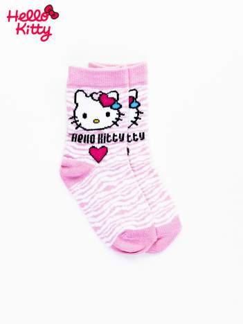 Różowe skarpetki dla dziewczynki HELLO KITTY
